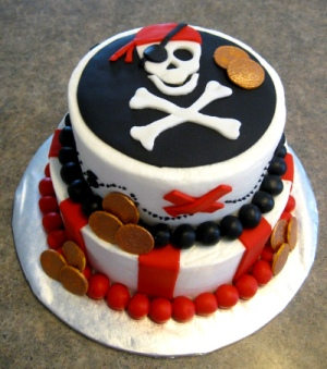 tort z czaszką