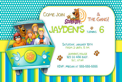 scooby-doo birthday invitation