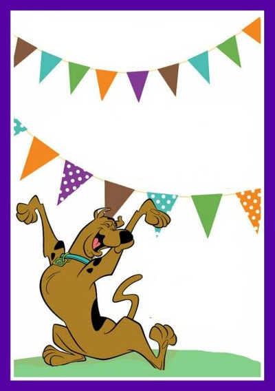 zaproszenie - Scooby i baner