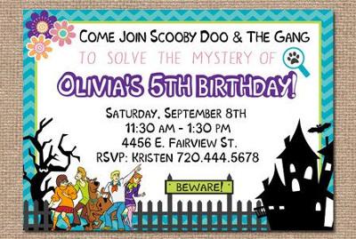 zaproszenie na urodziny - Scooby Doo i straszny dom