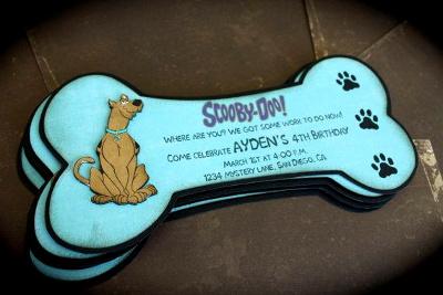 zaproszenie - psia kość i Scooby Doo