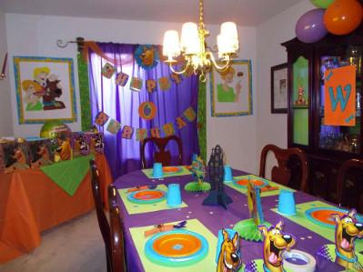 pokój z dekoracjami Scooby Doo