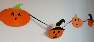 girlanda halloween DIY