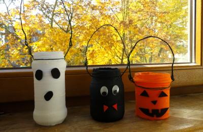 lampiony halloween DIY