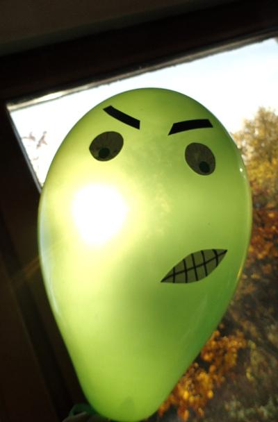 straszny balon DIY